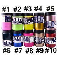 Wholesale 12 oz Stainless Steel Colster can Yeti Coolers Rambler Colster YETI Cups Cars Beer Mug Insulated Koozie oz in Stock dhl free OTH242