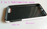 TPU aluminium rubber - 2 in for iphone plus d sublimation protective case Rubber tpu pc aluminium plate