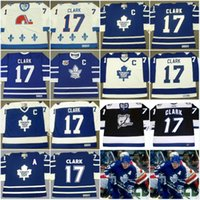 al por mayor vendimia quebec-# 17 Wendel Clark Jersey Hombres Nordiques de Quebec 1994 Tampa Bay Lightning 1998 Maple Leafs de Toronto 1991 Vintage Throwback Hockey Jerseys