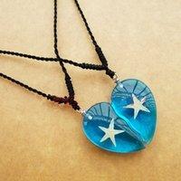 amber sea - Heart of The Sea Starfish Pendant Necklace Amber Specimen Crafts True Seashell Jewelry