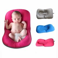 Cotton bathtub cushions - Infant Baby Bath Pad Non Slip Bathtub Mat NewBorn Safety Security Bath Seat Support Baby Shower Portable Air Cushion Bed Infant