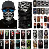 Wholesale 100pcs Skull Design Multi Function Bandana Ski Sport Motorcycle Biker Scarf Face Masks Outdoor Facial Mask DHL