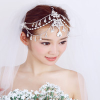 Wholesale 30 cm Crystal Diamond Tiara Bride Hair of The Forehead Jewelry Chain Wedding Tiara Wedding Dress Accessories