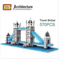 Wholesale LOZ Germany Lizhi famous architectural model London Bridge Diamond building blocks children s educational toys