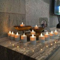 Recargable Moving Wick Votives Tealights velas kit de té luces-12 paquete de marfil