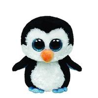Venta al por mayor-Ty Beanie Boos Original Big ojos muñeca de juguete de la muñeca niño pingüino de cumpleaños TY Baby 16 Cm pingüino perro Panda Unicornio juguete de oso L47