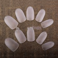 Wholesale Clear color Full cover nail tips long Oval Artificial Acrylic Nail Tips box