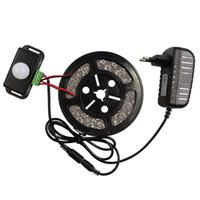 Wholesale M LED Strip Light Leds Non waterproof PIR Human Motion Sensor Switch V A Power Adapter Flexible Led Tape