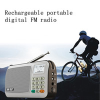 best rechargeable portable speakers - Rechargeable portable mini pocket digital FM radio with USB port TF slot The Aged Best MP3 Player Speaker for hiking exercise