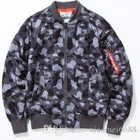 Wholesale Autumn Winter Men New Harajuku Camouflage MA1 Bomber Jacket Fashion Windbreaker Camo Pilot Baseball Mens jackets And Coats