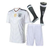 Wholesale 2016 kit Germany football shirts home away grey soccer uniforms kit OZIL REUS MULLER SCHWEINSTEIGER alemanha child shirts Footb