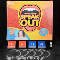 Wholesale Cheap Spokes - Cheap Speak Out Board Party Game Speakout Mouthguard Challenge Game Funny Family Party Popular Game Christmas Gift