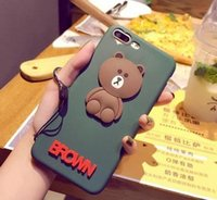 achat en gros de téléphone couvre peluche-Cute Teddy Bear Phone Case Iphone 6s All Inclusive Phone Case Iphone7 Plus Silicone Housse de protection pour Oppo R9 pour X7 Plus