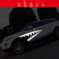 Wholesale personality shark sticker Car individuality creative sticker garland great white shark shark mouth body color Put car door side door