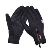 Wholesale touch screen gloves Outdoor windbreaker bicycles autumn and winter riding gloves warm Fleece ski gloves