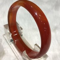Wholesale Certified Natural red agate jade Round Circle bangle bracelet