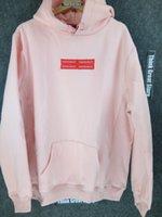 Wholesale SUPREM Box Logo Hooded Sweatshirt Pink white black