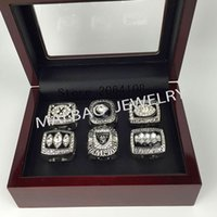 Wholesale 6Pcs Factory direct sale Super Bowl Raiders football Championship Rings set For Men Fashion Sports Jewelry