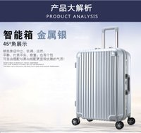 Wholesale The aluminum frame rod box female suitcase caster baggage box inch ultra light male boarding new suitcase
