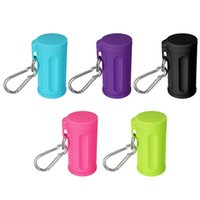 Wholesale Car Ashtray Mini Ashtray Cylinder Durable Sack Portable Ashtray With Keychain Candy Colors ABS Outdoor Beach Ashtray Gifts