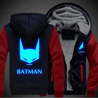 batman hoodie jacket - Batman Men Women Cosplay Luminous Zipper Jacket Sweatshirts Thicken Hoodie Coat USA size
