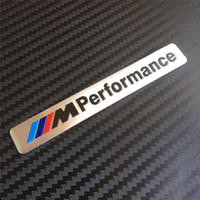 Wholesale 10pcs M Performance Mperformance Motorsport aluminum Logo Car Sticker Emblem Badge silver black for BMW E34 E36 E39 E53 E60 E90 F10 F30 M3