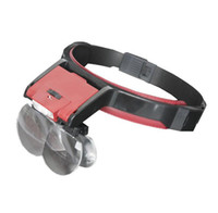 Wholesale Loop Headband LED Magnifiers Embroidered Lens x x x x Helmet Loupe Head mounted Reading Magnifying Glasses for Old People