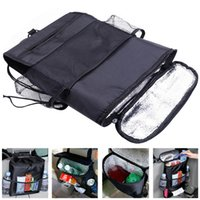 Wholesale Auto Care Car Seat Organizer Holder Bag Multi Pocket Arrangement Bag Back Seat Chair Car Styling Car Seat Cover Organiser CDE_003
