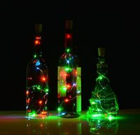 Wholesale Cork shape lights Bottle Mini String Lighting Copper Wire light Starry Light For Bottle DIY Christmas Wedding and Party b567