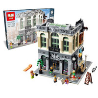 bank architectures - Creators Series The Brick Bank Model Building Blocks Set Classic Compatible House Architecture Toys For Children
