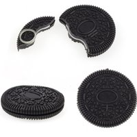 Wholesale FedEx Express Magic Props Oreo Cookie Trick Biscuit Bitten Restored Street Gimmick Close Up Party festival funny show as gift