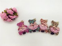 baby bear pattern - Colors Solid Cute Bear in Foral Pattern with Glitter Crown Bow Baby Girls Hairpins Fashion Cartoon Girls Hairclips Baby