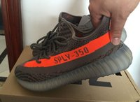 leather bag factory - Big size us13 us12 Top Factory V2 Sply Beluga Grey Orange Real Boost With Receipt Box Socks Bags Kanye West Running Shoes