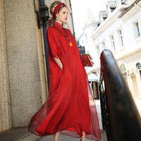 Wholesale Chinese style High grade women s boutique art women silk double root robe silk dress