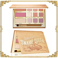 Wholesale 2016 Tarte palette Swamp Queen Eye Shadow in Bloom Clay Palette Colors Eye Shadow By Tarte EyeShadow Palette with brush