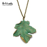 antic jewelry - Artilady fashion green leaf pendant necklace k antic gold plated zinc alloy leaf pendant necklace for women jewelry party gift