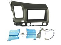 Black antenna installation - For Civic Radio DVD Stereo Dash Dark Atlas Grey Double Din Fascia Mount Installation Trim Kit Wire Harness Antenna