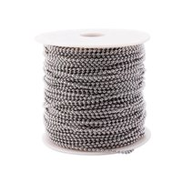 Wholesale 100meters most popular size mm stainless steel ball chain spool with connector for jewellery necklace