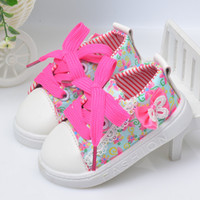 Wholesale Baby Girl Fashion Brand Canvas Sneaker Shoes Kids Flower Sport First Walker Toddler Lace Surround Butterfly Shoes cblh094