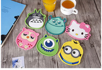 Wholesale 2017 NEW Cartoon Home Table Cup Mat set Coffee Drink Placemat for table Spinning Drinks Coasters