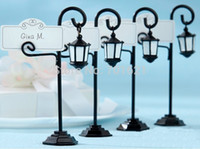 Wholesale Bourbon Street Streetlight Wedding Place Card Holder Wedding Favors Gifts Party Accessory Decoration Supplies