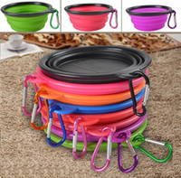 Bowls, Cups & Pails Plastic Outdoor Portable Silicone Collapsible Dog Bowl Cat Puppy Pet Feeding Travel Bowl with Carabiner Easy Carry Pet Food Bowl Feeder Dish with Hook
