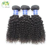 7A brésilien bouclé profond cheveux bouclés Weave 100% cheveux humains cheveux produits extensions de coiffure trame remy naturel noir