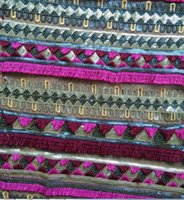 Wholesale NEW tassels sequins embroidery fabric in stock dress coat fashion fabric
