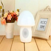 Wholesale Cute bluetooth speaker with LED Light Table Lamp Nightlight For Bedroom Music play phone call