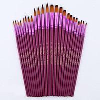 Wholesale 12pcs Different Size Artist Fine Nylon Hair Paint Brush Set For Watercolor Acrylic Oil Painting Brushes Drawing Art Supplie