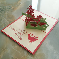 Wholesale 3D stereo cards handmade Christmas deer DIY Postcard invitation card cards flying Christmas deer birthday party Christmas gift