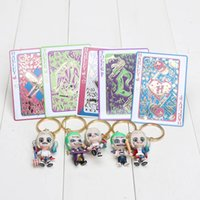 Wholesale 5pcs set cm Suicide Squad Harley Quinn and Joker PVC Action Figure Collection Model Toy Gifts keychain keyring Pendant Doll