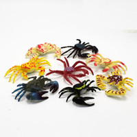 artificial crab - 80pcs New Arrival different kinds of artificial Crab Animals Model toys for kids Education Toys gift