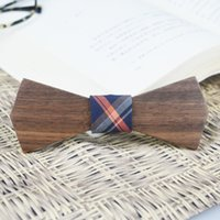beautiful skateboard - Handcrafted Walnut Wood Bowtie for Party Prismatic skateboard Wooden Bow Tie Beautiful Bow Evening Party Gift European Style Plaid